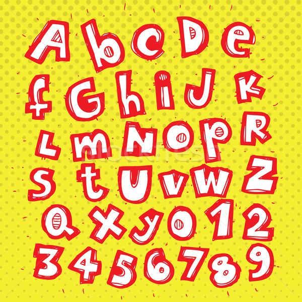 Foto stock: Alfabeto · padrão · ilustração · eps8