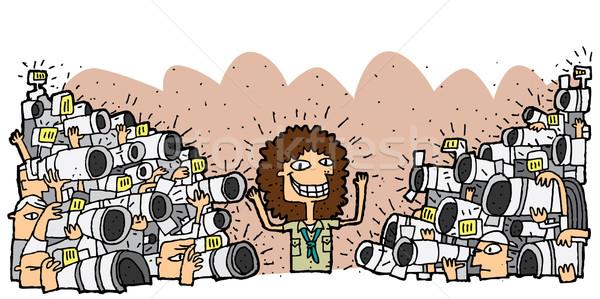 ünlü karakter kalabalık paparazzi örnek eps8 Stok fotoğraf © VOOK