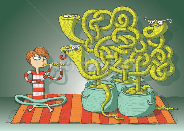 Stock photo: Cobra Snakes Maze Game