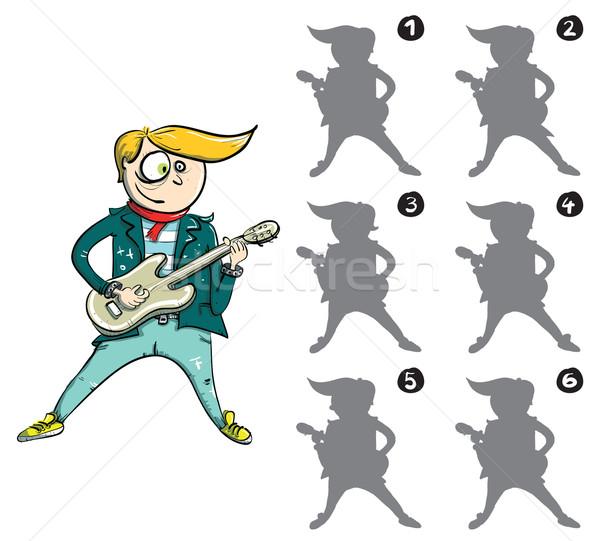 Guitarist Mirror Image Visual Game Stock photo © VOOK