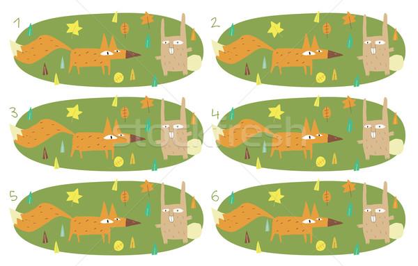 матча игры кролик задача находить два Сток-фото © VOOK