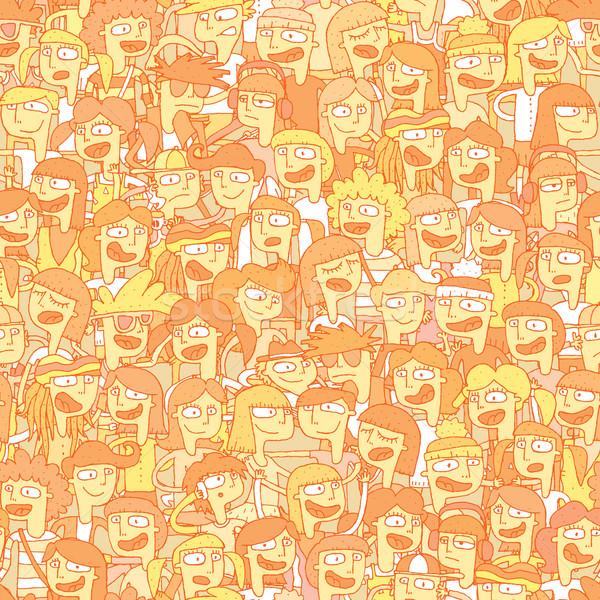 Cantando ninos coro jóvenes ilustración Foto stock © VOOK