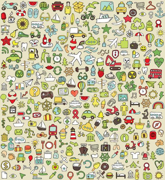 Xxl firka ikon szett alkalom színek kicsi Stock fotó © VOOK