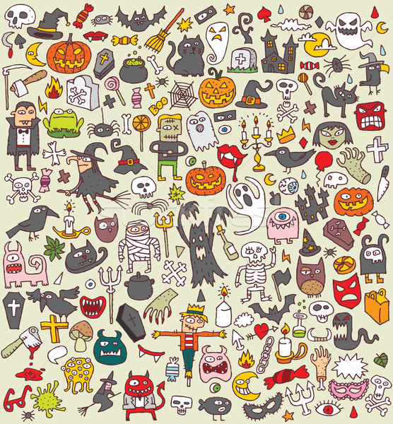 Big Halloween Icons Collection Stock photo © VOOK