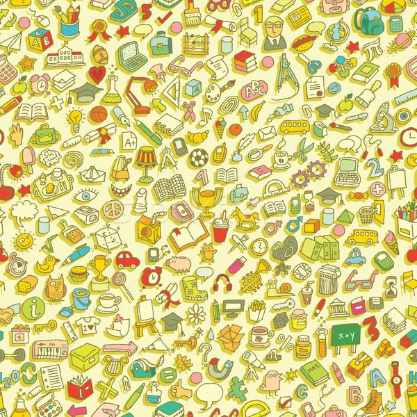 Escolas mini rabisco desenhos ícones Foto stock © VOOK