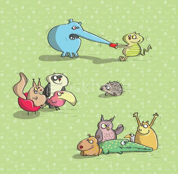 Animais verde ilustração eps10 vetor Foto stock © VOOK