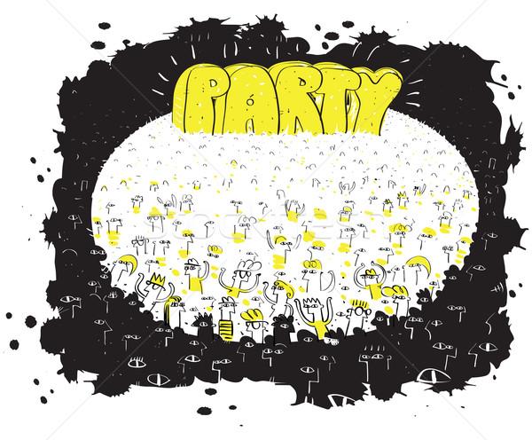 Stok fotoğraf: Parti · kitle · olay · örnek · eps8 · vektör