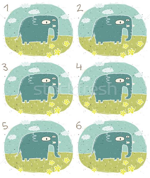 слон игры детей иллюстрация eps8 вектора Сток-фото © VOOK