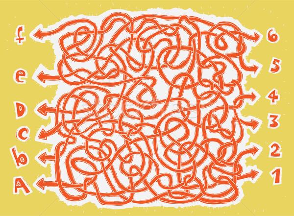 Labirintus játék gyerekek illusztráció eps8 vektor Stock fotó © VOOK