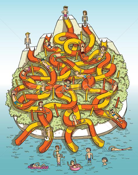 лабиринт игры смешные рисованной иллюстрация Сток-фото © VOOK