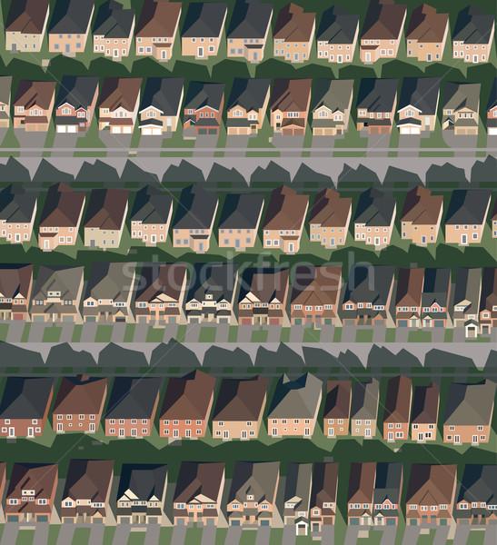 Ruas casas isolado ilustração eps10 vetor Foto stock © VOOK
