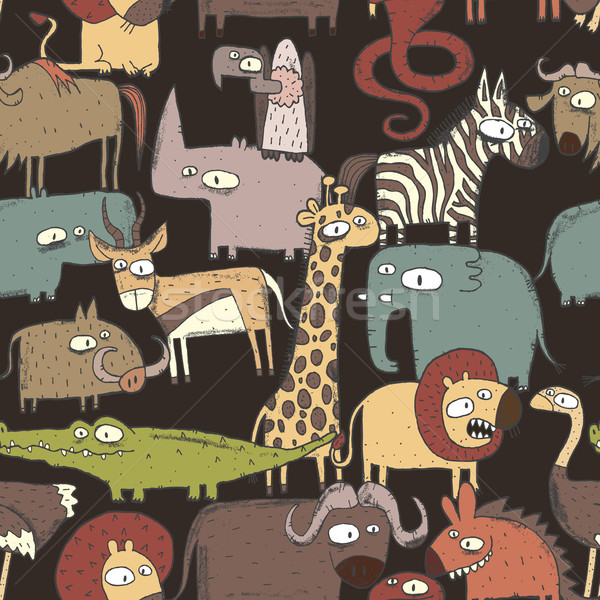 Africano animais colagem rabisco desenhos Foto stock © VOOK