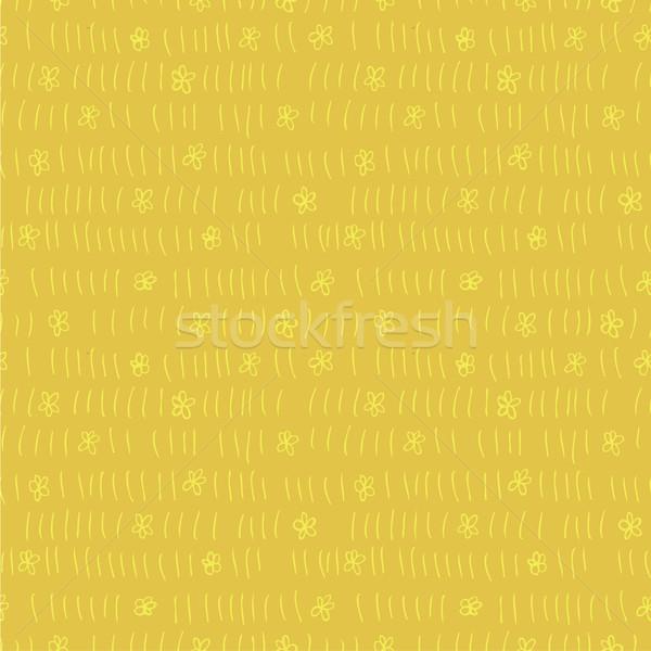 フローラル フィールド 反復的な 黄色 実例 ストックフォト © VOOK