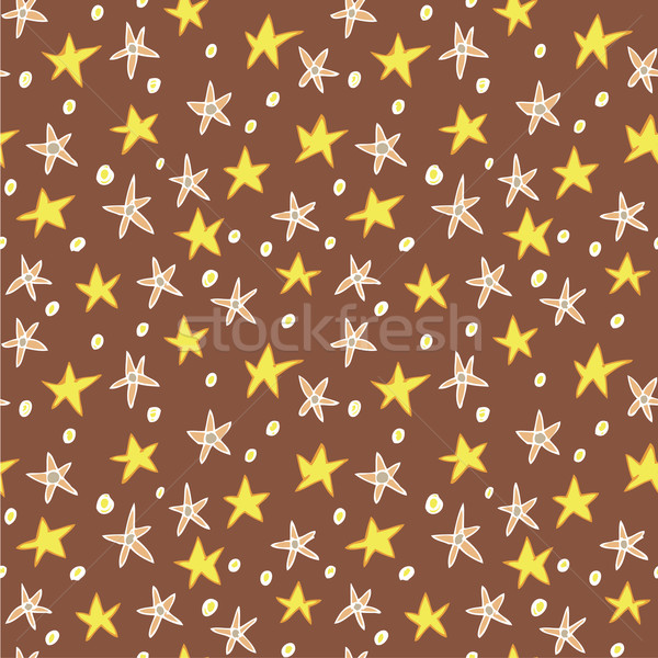 Floral Stars Seamless Pattern Stock photo © VOOK