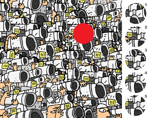 Talál helyes darab játék válasz nem Stock fotó © VOOK