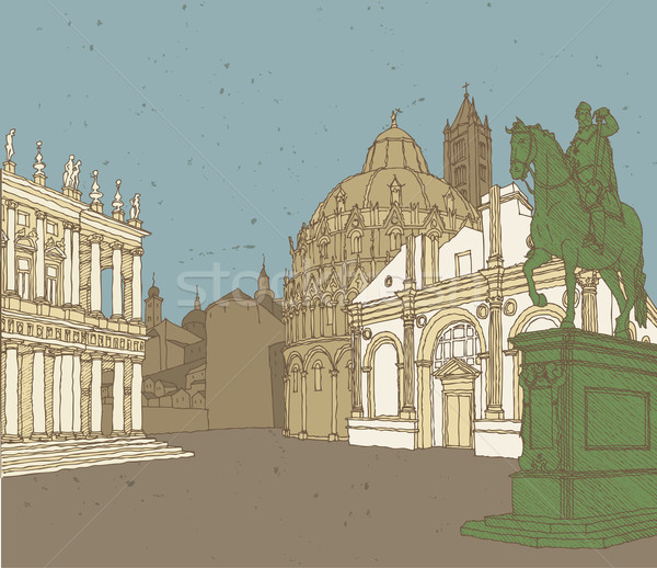 Composition of Italian Architecture Stock photo © VOOK