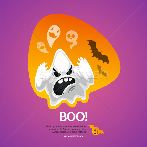 Halloween Greeting Card Boo Stock photo © Voysla