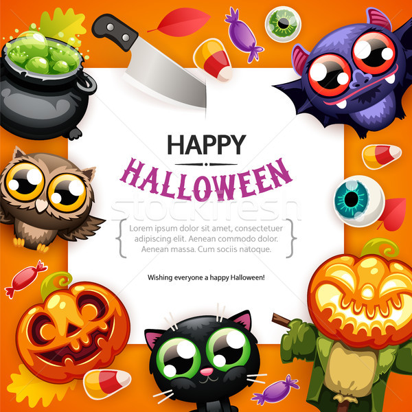 Happy Halloween Background with Copy Space Colorful Stock photo © Voysla