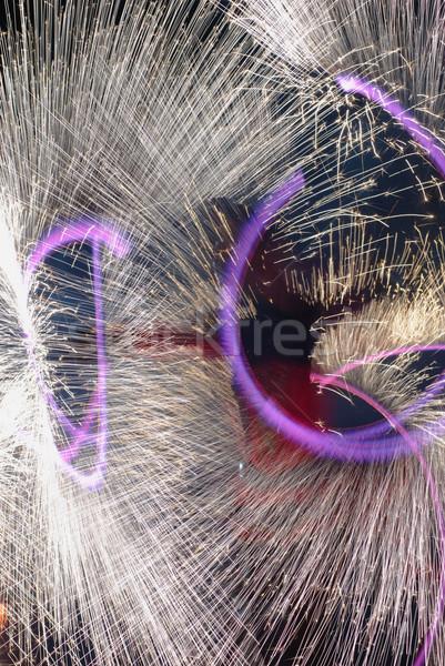 огня шоу многие фейерверк фестиваля Сток-фото © vrvalerian
