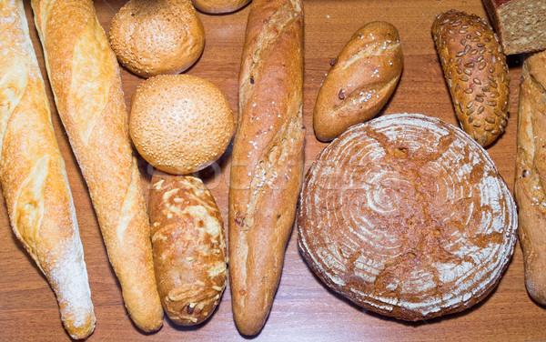 Stockfoto: Brood · verschillend · eigengemaakt · voedsel · tarwe · zwarte