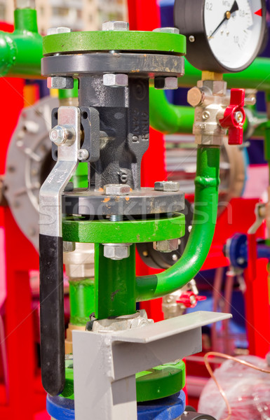 Stockfoto: Water · pijp · verbinding · gewrichten · pompen · druk