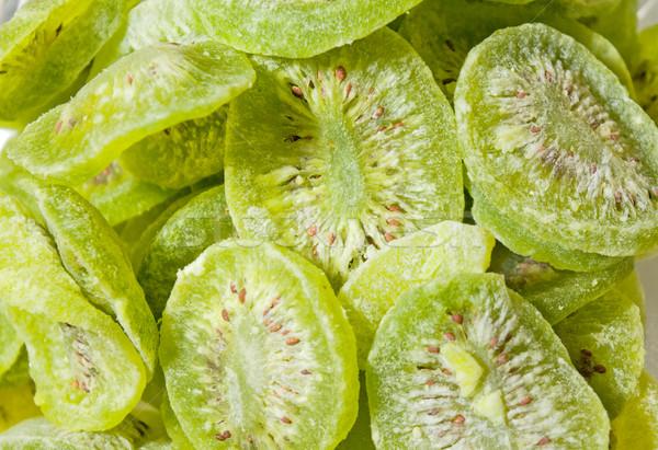 Gedroogd kiwi zoete suiker poeder voedsel Stockfoto © vrvalerian