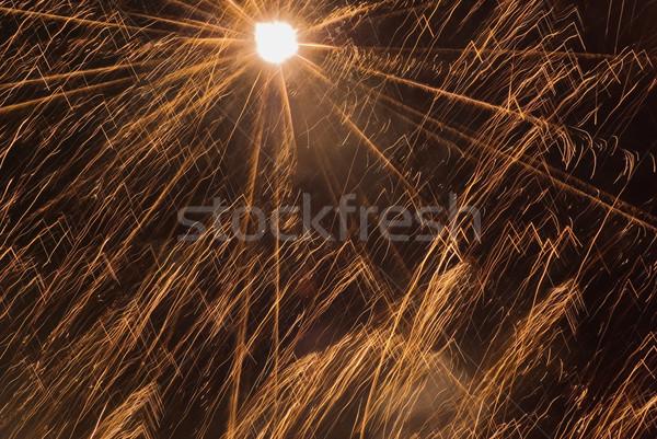 Vuurwerk veel gouden festival kunst teken Stockfoto © vrvalerian