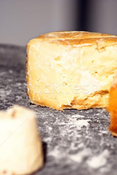 Kaas houten blad witte Stockfoto © vrvalerian