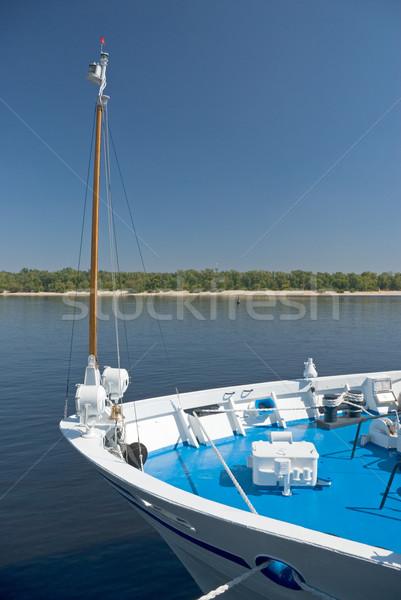 Navio rio porta água construção azul Foto stock © vrvalerian
