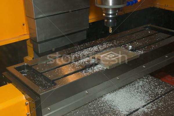 Stockfoto: Boren · machine · metalen · technologie · vak · tools