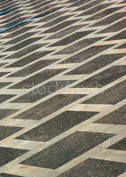 Granito piedras calle gris carretera ciudad Foto stock © vrvalerian