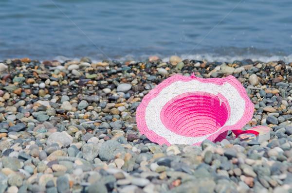 Playa sombrero sol fondo belleza viaje Foto stock © vrvalerian