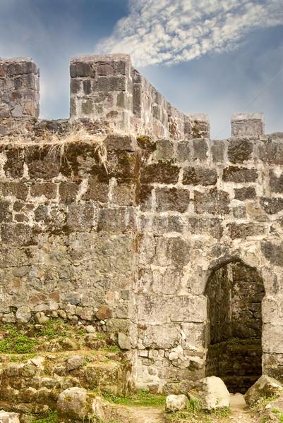Eski kale duvar parça giriş inşaat Stok fotoğraf © vrvalerian
