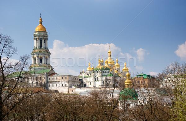 Mosteiro dourado igreja blue sky azul viajar Foto stock © vrvalerian