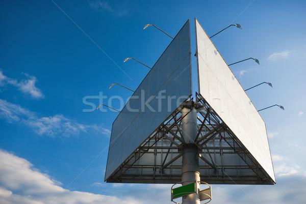 Ilan panosu büyük mavi gökyüzü gökyüzü yol şehir Stok fotoğraf © vrvalerian