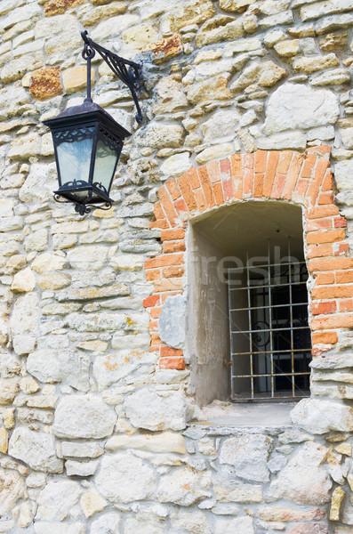 Pencere eski duvar taş Bina inşaat Stok fotoğraf © vrvalerian