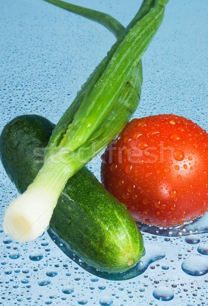 Stockfoto: Groenten · waterdruppels · natuur · zomer · markt · tomaat