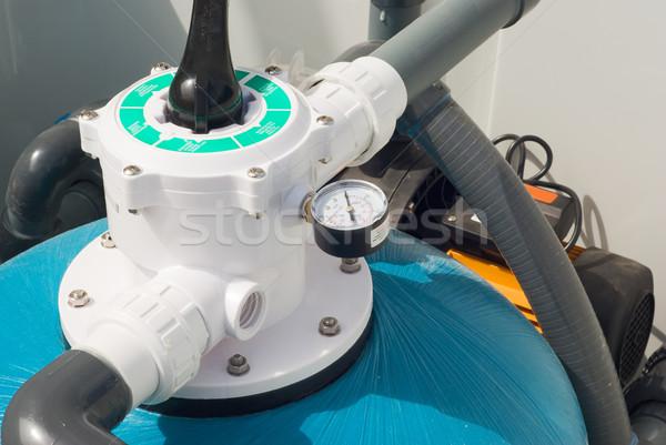 Víz pumpa ház fűtés csövek csövek Stock fotó © vrvalerian