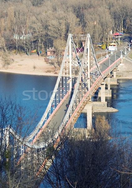Ponte pedestre água construção natureza comunicação Foto stock © vrvalerian