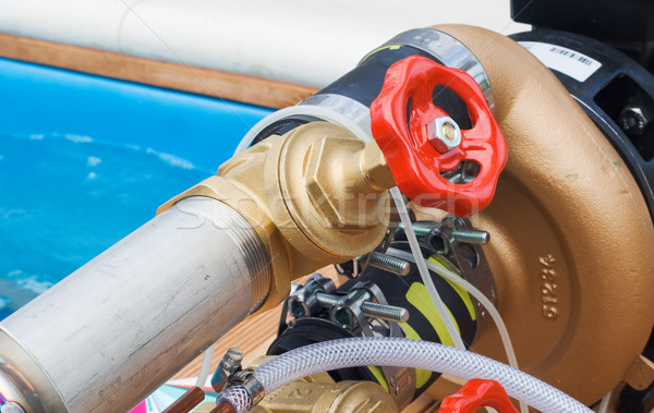 Válvula industrial alto presión fuego agua Foto stock © vrvalerian