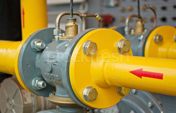 Pijp lijn overdragen olie gas hoofd- Stockfoto © vrvalerian
