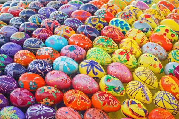 Huevos de Pascua alegre Pascua hierba pintura Foto stock © vrvalerian