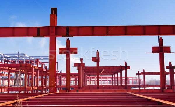 Metal construcción metálico marco futuro edificio Foto stock © vrvalerian