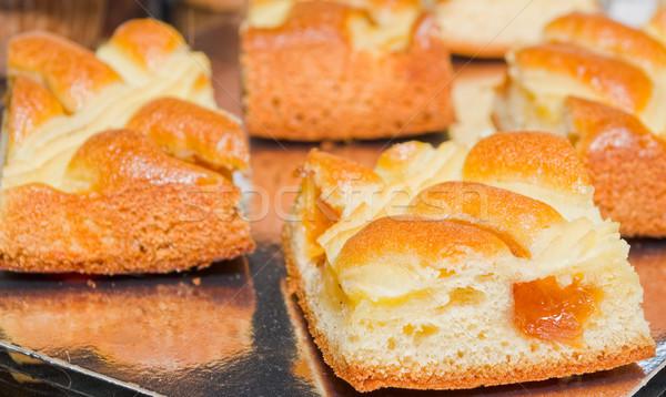 Lezzetli kayısı reçel doku kek Stok fotoğraf © vrvalerian