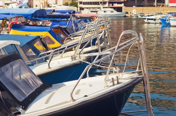 Сток-фото: Motor · лодках · порт · пирс · морем · лодка