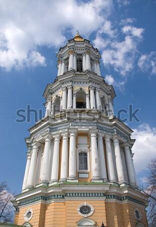 Kerk klooster voorjaar kruis aanbidden god Stockfoto © vrvalerian
