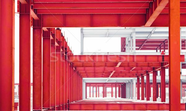 Fém építkezés fémes keret jövő épület Stock fotó © vrvalerian