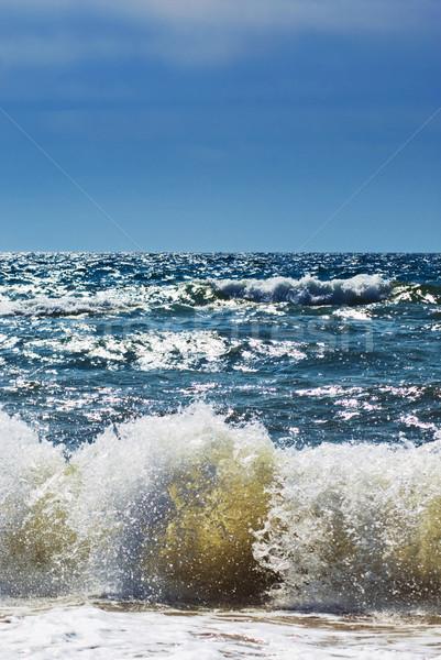 Fırtına görmek deniz su doğa arka plan Stok fotoğraf © vrvalerian