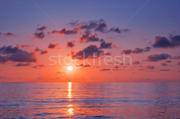 Pôr do sol cênico ver belo acima mar Foto stock © vrvalerian
