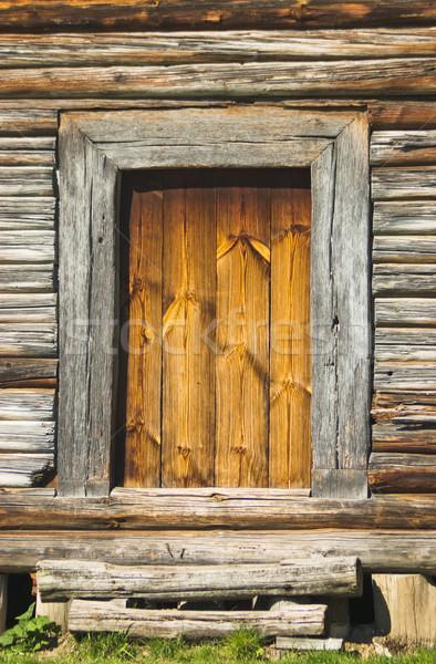 Porta autêntico vintage original casa Foto stock © vrvalerian
